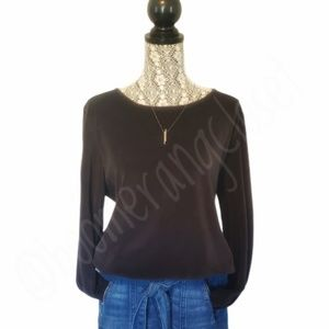 J.Jill-Pure Jill Black Velour Long-sleeve Sweater